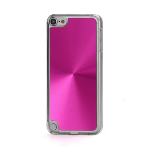 Metallic CD Pattern Transparent Edge Hard Case Cover Skin for iPod Touch 5 - Rose