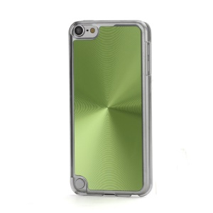Metallic CD Pattern Transparent Edge Hard Case Cover Skin for iPod Touch 5 - Green