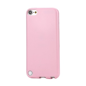 Glossy Solid Color TPU Candy Gel Cover Case for iPod Touch 5 - Pink