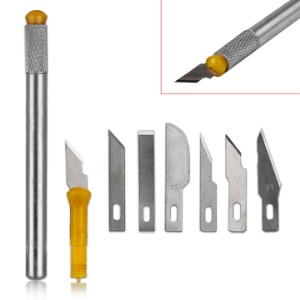 7pcs Hobby Knife Set Crafts Scrapbooking Model Carving Tools