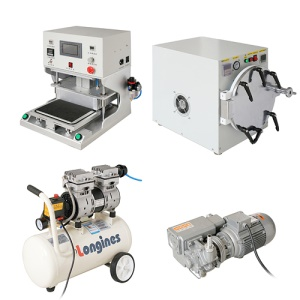4 in 1 Professional LCD Repair Machine (Laminating Machine + Vacuum Pump + Bubble Removing Tool + Air Compressor)