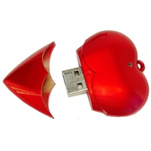 Heart style usb flash disk;1GB