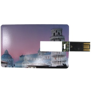 Credit Card Style Flash Drive;1GB