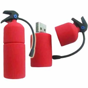 Fire Extinguisher Red USB Flash Disk,2/4/8/16GB Available;2GB
