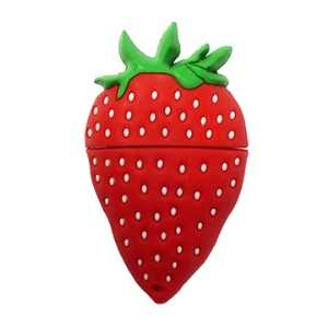 Strawberry USB Flash Driver,2/4/8/16GB Available