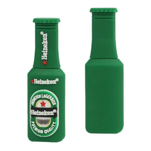 Heineken Bottle USB 2.0 Flash Disk, 2/4/8/16/32GB Available