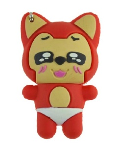 Cute Cartoon Ali Design 8GB Mini USB 2.0 Flash Drive - Red
