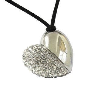 Heart Diamond USB Flash Disk