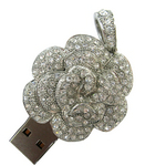 Silver Diamond USB Flash Memory