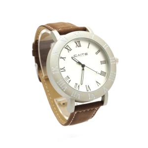 Retro Leather Strap Couple Watch Lovers Gift Wristwatch for Women - Brown