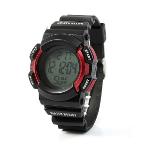 Red Chest Strap Heart Rate Monitor Pedometer Calorie Sports Watch