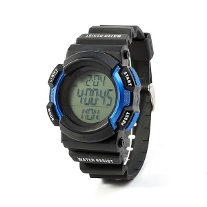 Blue Chest Strap Heart Rate Monitor Pedometer Calorie Sports Watch