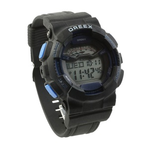 OREEX Fashion LED Digital Electronic Watch for Men and Women - Black / Blue