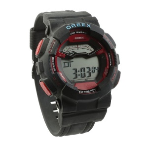 OREEX Fashion Electronic Wrist Watch for Men and Women - Black / Red