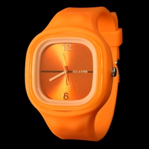 Charming Sport Silicone Jelly SS.COM Watch - Orange