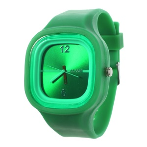 Charming Sport Silicone Jelly SS.COM Watch - Green