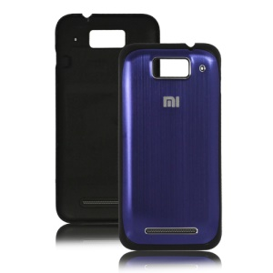 Brushed Back Cover Housing for XiaoMi M1 Miui M1 Mi-One Plus - Black / Dark Blue