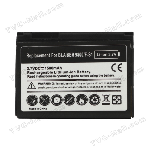 BlackBerry Torch 9800 9810 Battery Replacement 1500mAh F-S1