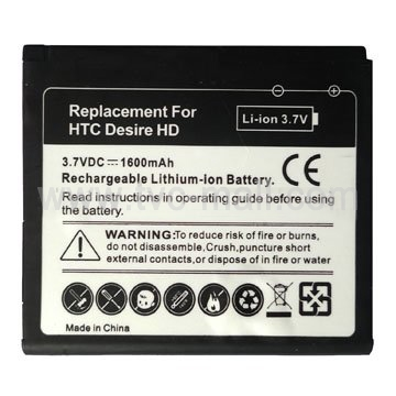 Mobile Phone Battery for HTC Desire HD / Inspire 4G / 7 Surround 1600mAh