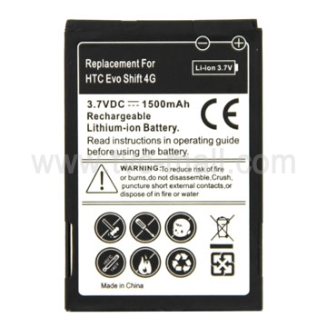 1500mAh Li-ion Rechargeable Battery for HTC EVO Shift 4G