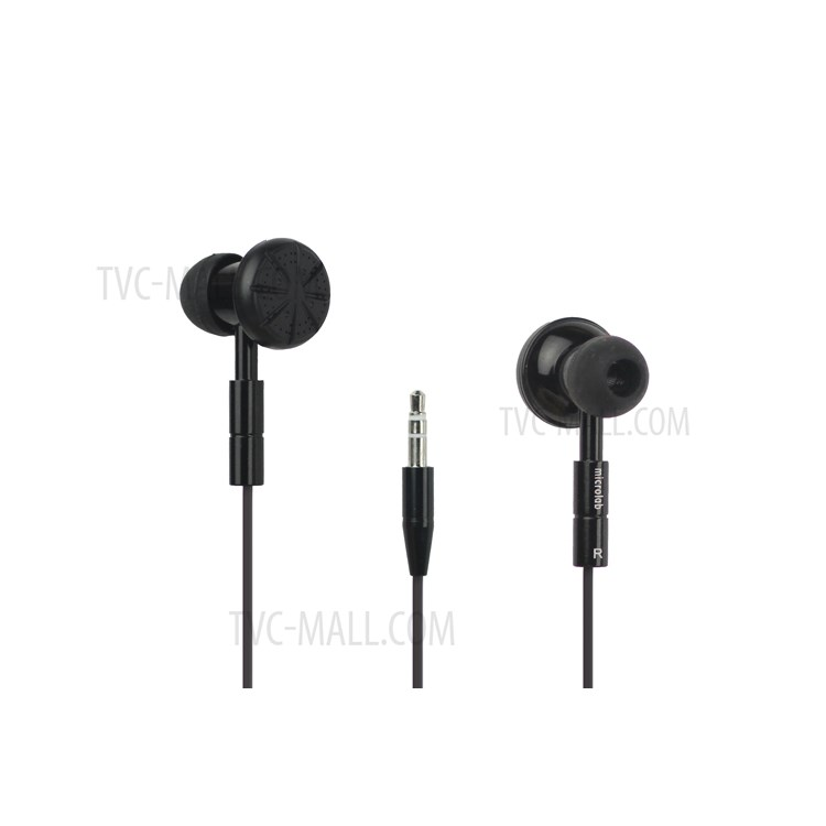 Plated Double Sided Stereo Headphone Headset for Mobile Phones/MP3/MP4 and etc - Black