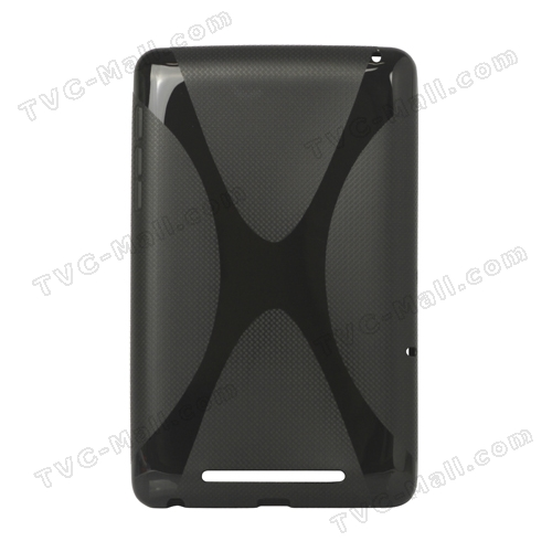 X Shape TPU Gel Case for ASUS Google Nexus 7 - Black