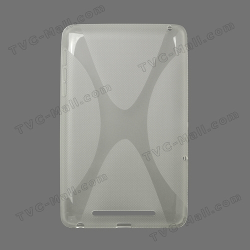 X Shape TPU Gel Case for ASUS Google Nexus 7 - Transparent