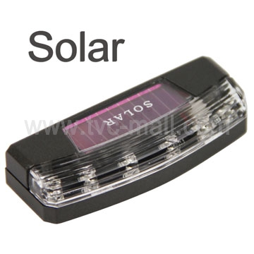 Solar Power Strobing Car Vehicle Warning LED Lights Flashlight