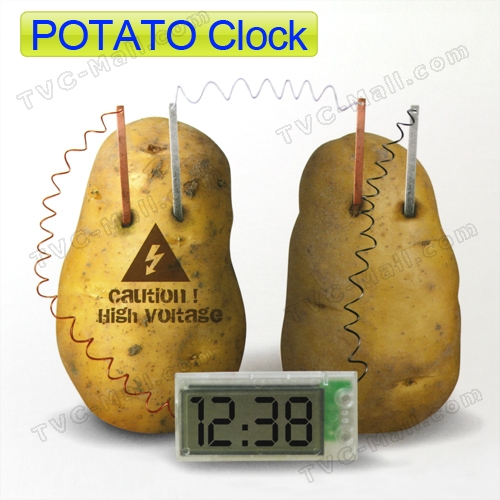 Science Museum Potato Clock Green Science Vegetable Power