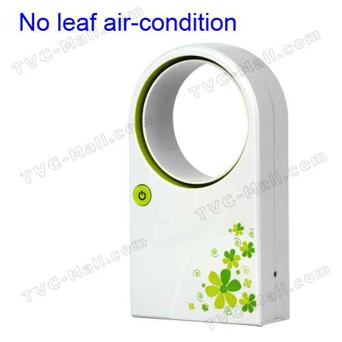 Portable Handheld No Leaf Air Condition Cooler Fan with USB Cable