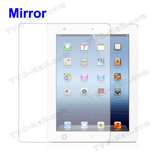 Mirror Screen Protector Guard for iPad 2nd 3rd Generation The New iPad 4G LTE / Wi-Fi