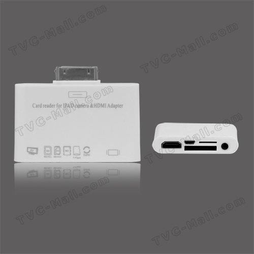iPad 1 &amp; 2 Camera Connection Kit Adapter+ Micro USB Port SD Card Reader AV HDMI Output
