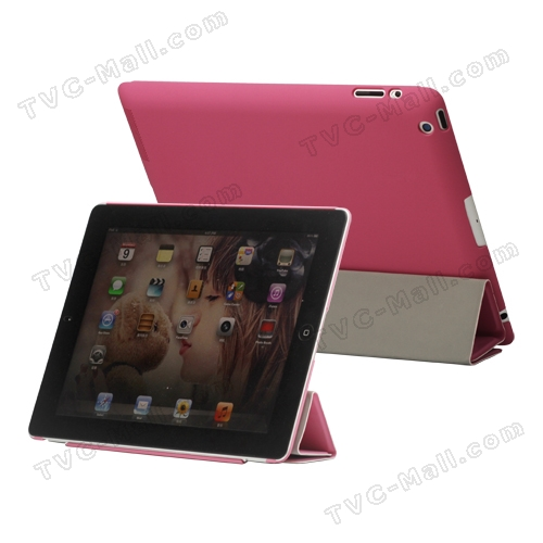 Slim Leather Smart Cover with Stand for iPad 2nd 3rd 4th Gen - Pink