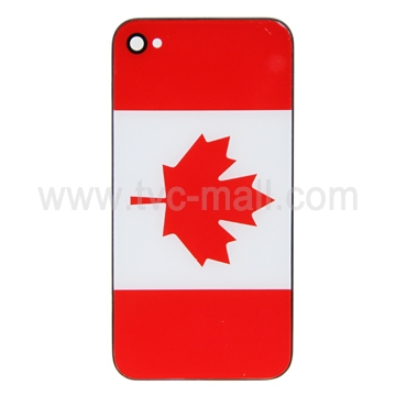Top-quality iPhone 4 Hard Plastic Battery Housing Cover with Canadian National Flag