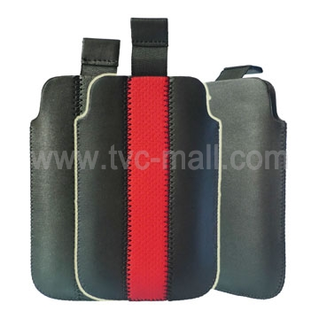 Novel Self Pulling Tab Leather Pouch for iPhone 3G &amp; iPhone 3GS