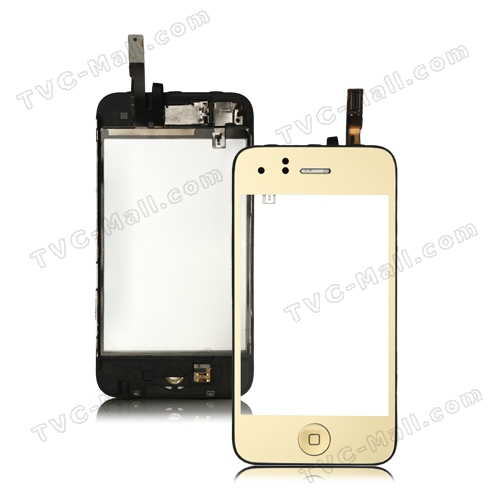 Electroplating iPhone 3GS Touch Screen Digitizer with Small Parts Assembly - Gold