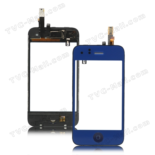 iPhone 3GS Touch Screen Digitizer with Home Button Bezel Earpiece ect - Dark Blue
