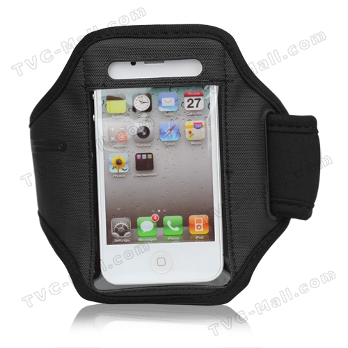 Adjustable Sports Armband Case for iPhone 4 4S - Black