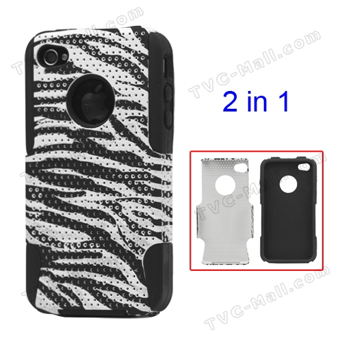 Stylish Zebra iPhone 4 4S Commuter Series Case