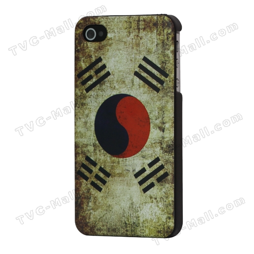 Antique South Korean Flag Hard Case for iPhone 4 4S