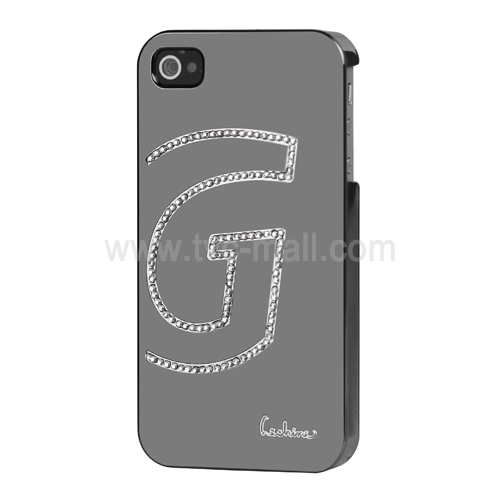 Eileen G-Lime Series Diamond Case for iPhone 4 4S - Shadow Black