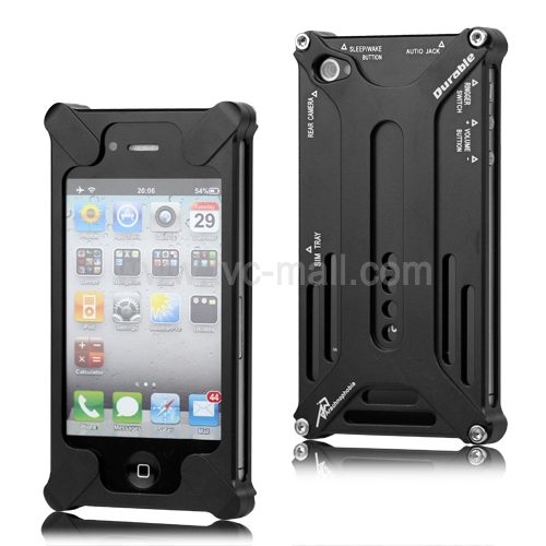 Transformer Metal Bumper Case for iPhone 4 4S - Black