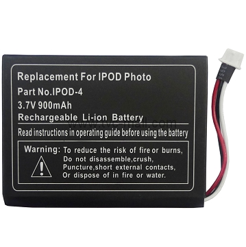 900mAh Battery Replacement for iPod 4G Photo U2