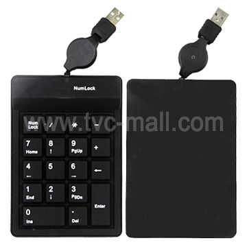 Black USB 18/19 keys Numeric Keypad for Tablet PC
