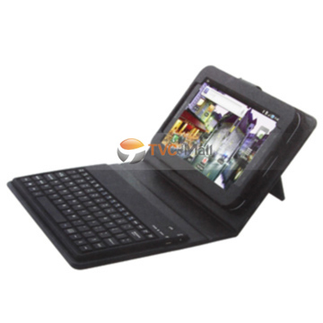 New Samsung Galaxy Tab P1000 Mini Bluetooth Keyboard Holder Leather Case with USB Cable
