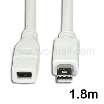 Mini DisplayPort Male to Female Extension Cable, Length:1.8m