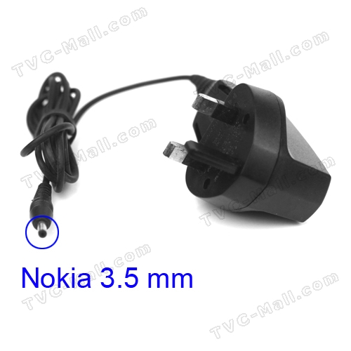 Nokia Travel Wall Charger 3.5mm Plug for Nokia 2610 7210 3310 9500 9300 etc - UK Plug