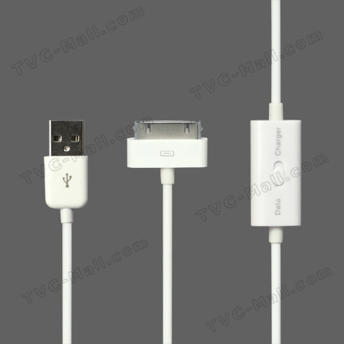 USB Data Sync Charger Cable with Conversion Switch for iPad iPhone iPod