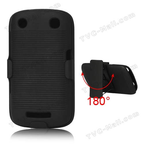 BlackBerry Curve 9360 9350 9370 Slide Case with Swivel Belt Clip Stand