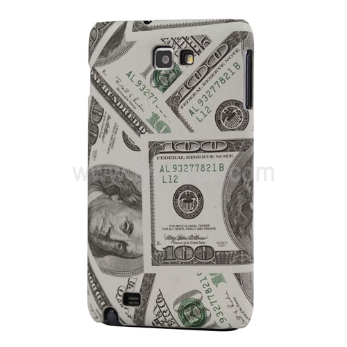 US Dollar Hard Case for Samsung Galaxy Note I9220 GT-N7000 I717 - White